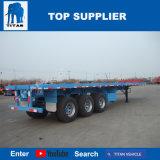 Titan 12 dreht der 40FT Behälter-Flachbett-halb Schlussteil für Verkauf