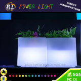 Potenciômetro de flor cúbico do jardim do diodo emissor de luz Indoor&Outdoor do fulgor plástico