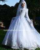 Платье венчания G1786 Tulle мусульманского Bridal шнурка втулок мантии венчания длиннего изготовленный на заказ