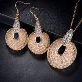 نمو دبي نوع ذهب مستديرة تقليد [أفريكن] [18ك] مجوهرات مجموعة