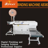 Semi-automático industrial AB380 de doble espiral máquina de encuadernación Encuadernación de alambre