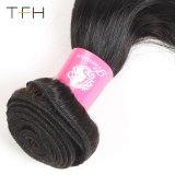 Virgem brasileira cabelo cor humana tecem 1b/Azul Remy Extensões de cabelo cor de dois tons reta de cabelo (TFH18)