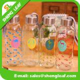 Grandes copos de garrafa de vidro criativos portáteis personalizados garrafas de água (SLF-WB030)