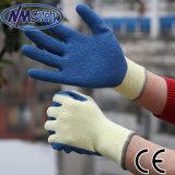 Le polyester/coton Latex Nmsafety 10g paume enduite Gant de travail sécuritaire