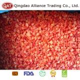 Gefrorener roter Pfeffer würfelt mit hochwertigem