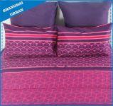 Insieme dentellare viola del Comforter del poliestere di disegno delle 5 parti