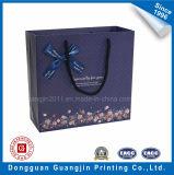 Rose Couleur papier cadeau Emballage Sac avec Golden Logo