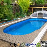 Houten Plastic Samengestelde Decking voor de Bovengenoemde Zwembaden van de Grond