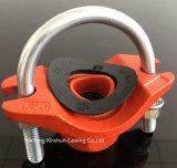 Té mécanique de boulon en U d'arroseuse d'incendie avec l'extrémité d'amorçage de BSPT/TNP