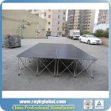 Estágio móvel da feira profissional para a venda com material forte da madeira compensada