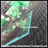 Verre flottant transparent de 4 mm avec rondillage rugueux Bord biseauté