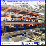 Blaues orange graues freitragendes Racking