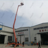 Il rimorchio idraulico di Hontylift ha montato la piattaforma articolata dell'elevatore dell'asta per manutenzione esterna