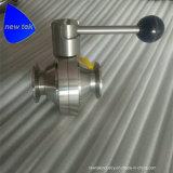 Hygienci сварной из нержавеющей стали для крепления шаровой клапан в форме бабочки