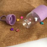 Filter van de Fles van het Water van het Glas van de goede Kwaliteit de Geïsoleerdec met de Koker die van het Silicium in openlucht Fles drinkt