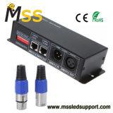 DC12V-24V 4 A 3 CANAIS DMX512 Controlador Descodificador Reostato para a faixa de luz LED RGB