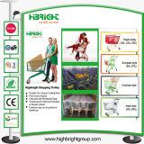 Metalleinkaufen-Laufkatze des Supermarkt-150L mit Baby-Sitz (HBE-A-150)