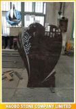 Virgolette del Headstone di disegno del cuore del granito