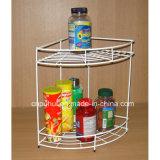 2つの層ワイヤーコーナーの香辛料用の棚(LJ9002)