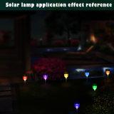 Bunte LED-Beleuchtung-Garten-Yard-Gras-notwendige Solarrasen-Lampe