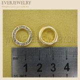 15mm 고품질 Strass 작은 구멍과 리베트 수정같은 다이아몬드 작은 구멍 밧줄 고리