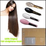 Escova do Straightener do cabelo de quatro cores com indicador do LCD