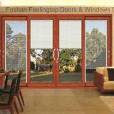 Селитебная алюминиевая стеклянная раздвижная дверь (FT-D80)
