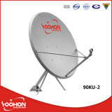 antena de acero galvanizada Offest de la antena de plato basado en los satélites de los 90cm TV