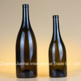Tiefer Farben-grosser Bauch-Glasflasche für Weinlese-Wein