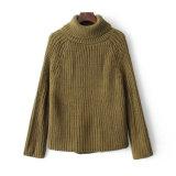 Heiße verkaufenfrauen strickten eindeutige verwendete Acrylpullover-Strickjacke der häkelarbeit-7gg