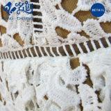 スリップの綿のかぎ針編みのレースの優雅な夏の女性現代甘い服