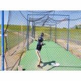 Nuovo baseball di disegno 2016 che colpisce la rete di pratica