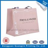 El papel impreso en color rosado de lujo bolsa de regalo con la laminación de Matt