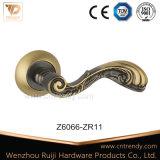 고대 금관 악기 색깔 기털 테일 실내 나무로 되는 문 손잡이 (Z6044-ZR05)