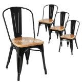 Стул черноты типа Xavier Pauchard бортовой с стулом Tolix металла места вяза деревянным