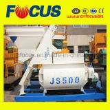 Тип конкретный смеситель вынуждения, смеситель твиновских горизонтальных валов Js500 конкретный