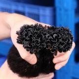 편평한 끝 머리 연장 전 보세품 각질 접착제 융해 머리 연장 인도 Remy 다채로운 사람의 모발은 색깔 1b#를 잇는다