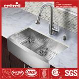 Placa de aço inoxidável pia de cozinha artesanal Dianteiro com Cupc Certified