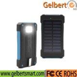 la Banca Emergency portatile di potere del caricatore del telefono della pila solare di RoHS dell'indicatore luminoso della torcia 10000mAh