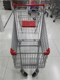 유럽 슈퍼마켓 쇼핑 손 트롤리
