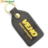 Metal Keychain do couro do projeto do cliente