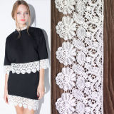 Аксессуары для текстильной промышленности, цветочный фрезерование кружевом, кремовое кружевной ткани новейшей конструкции