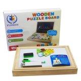 Doppelte seitliche Ausbildung, die Spielwaren-hölzernes Puzzlespiel für Kinder erlernt
