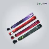 Gesponnene Wristbands mit Zahn-Plättchen-Verschluss-Festival-FarbbandWristbands