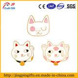 Lustiges nettes Karikatur-Bell-Katze-Abzeichen für Kleidung, Schutzkappen, Beutel