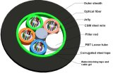 Кабель стекловолокна трубопровода GYTS 48 сели на мель сердечниками, котор напольный