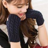 Finger-Less Basic Knitted Arm 도매 숙녀의 온열 장치 아크릴 뜨개질을 한 긴 장갑
