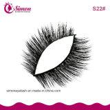 Vison réel de faux cils épais naturel de faux cils Extension maquillage
