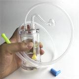 Brûleur à huile du tuyau de verre Silicone tube pour fumer.