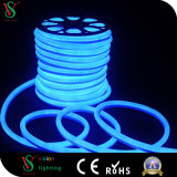 luzes de néon brancas da corda do cabo flexível do diodo emissor de luz da decoração ao ar livre do Natal 24V